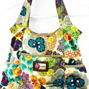 Fossil Floral Hobo Bohemian  Canvas Bag PB1